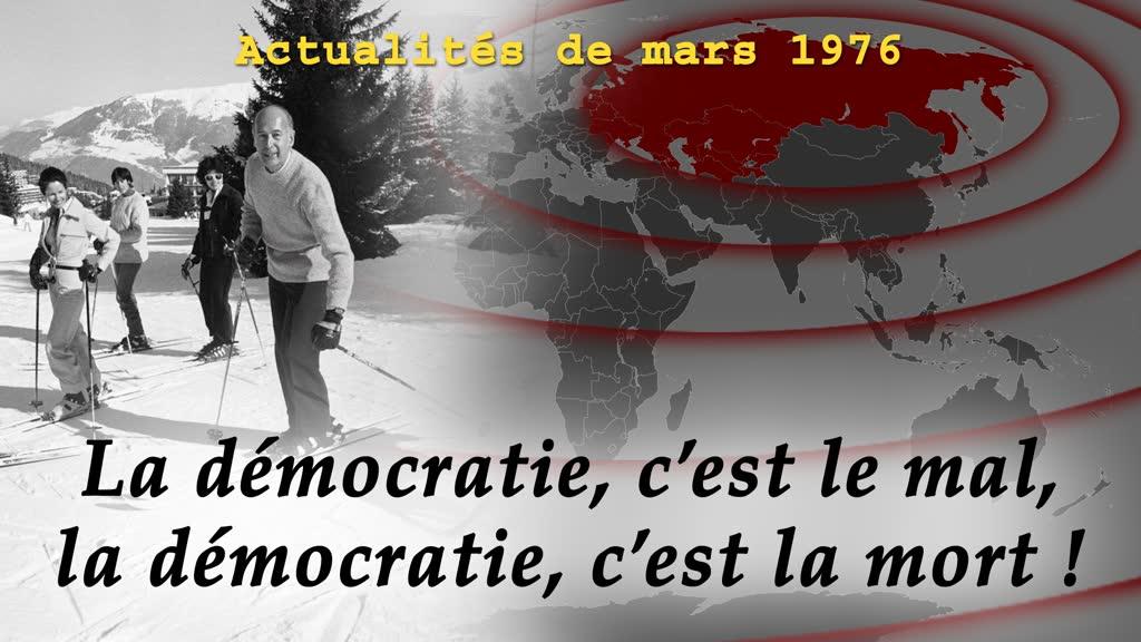 La démocratie, c'est le mal, la démocratie, c'est la mort!