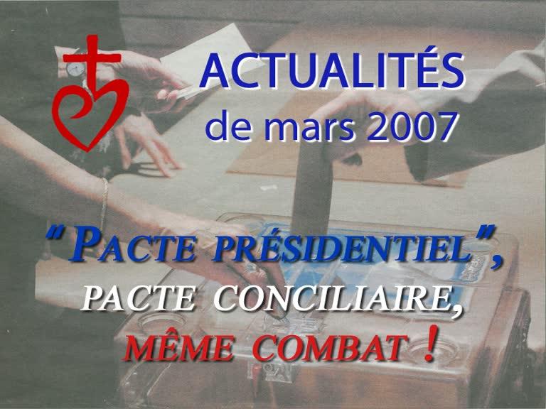 """"""" Pacte présidentiel """", pacte conciliaire, même combat !"""