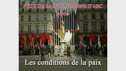 Les conditions de la paix.