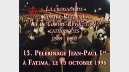 Pèlerinage Jean-Paul Ier Fatima, le 13 octobre 1996.