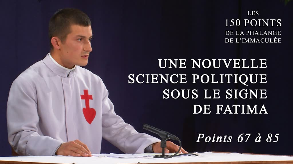 Conférence: Une nouvelle science politique sous le signe de Fatima.