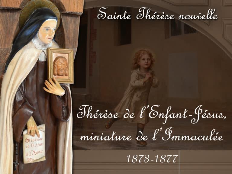Thérèse de l'Enfant-Jésus, miniature de l'Immaculée (1873-1877).