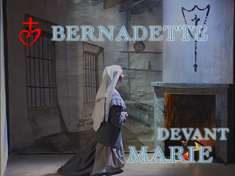 Bernadette devant Marie